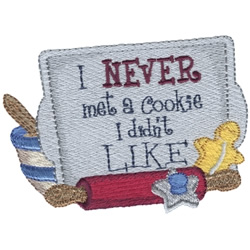 Cookie Saying embroidery design