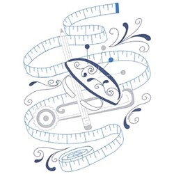 Tape Measure embroidery design