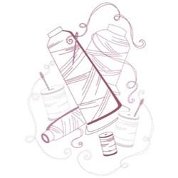 Thread Spools embroidery design