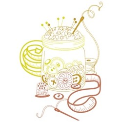 Button Jar embroidery design
