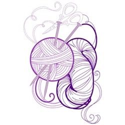 Knitting embroidery design