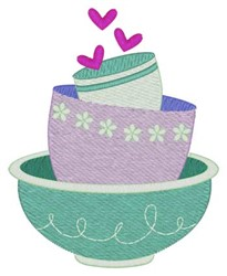 Mixing Bowls embroidery design