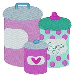 Kitchen Containers embroidery design