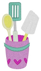 Kitchen Utensils embroidery design