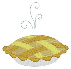Steaming Pie embroidery design