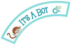 Its A Boy Applique embroidery design