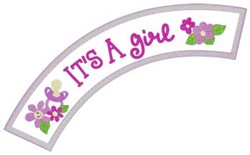Its A Girl Applique embroidery design