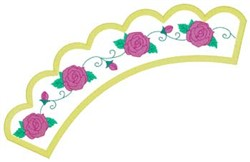 Roses Applique embroidery design