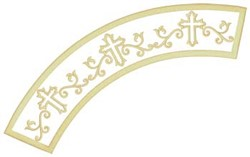 Christian Cross Applique embroidery design