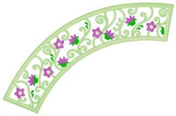 Flowers & Swirls Applique embroidery design