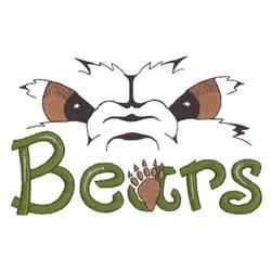 Bears Eyes embroidery design