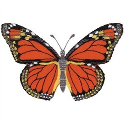 Monarch Butterfly Applique embroidery design