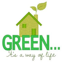 Green Way Of Life embroidery design