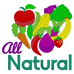 All Natural Foods embroidery design
