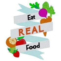 Eat Real Food embroidery design