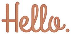 Hello. embroidery design