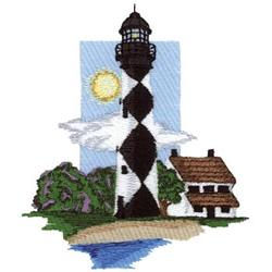Atlantic Lighthouse embroidery design