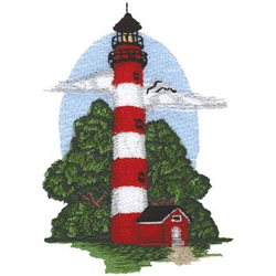 Assateague Lighthouse embroidery design