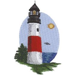 Sankaty Lighthouse embroidery design