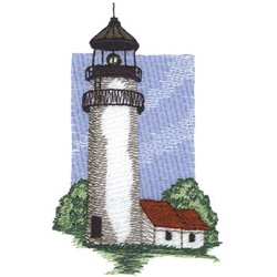 Highland Lighthouse embroidery design