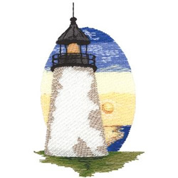 Pemaquid Point embroidery design