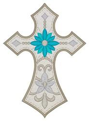 Decorative Cross embroidery design