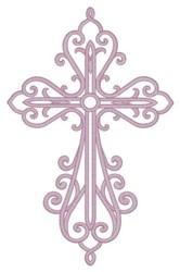 Filigree Cross embroidery design