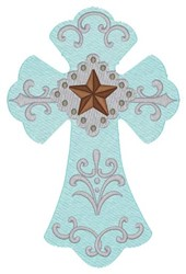 Western Cross embroidery design