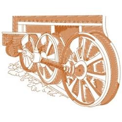 Train Wheels embroidery design