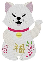 Lucky Kitty embroidery design
