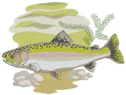 Rainbow Trout embroidery design