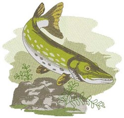Northern Pike embroidery design