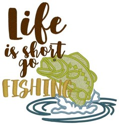 Life Is Short... embroidery design