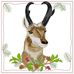 Pronghorn Antelope Quilt Square embroidery design