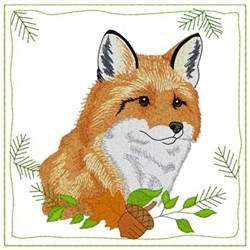 Fox Quilt Square embroidery design