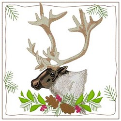 Caribou Quilt Square embroidery design