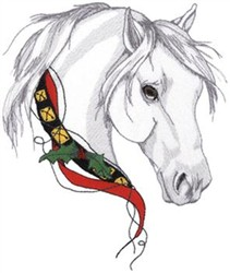 Christmas Horse embroidery design