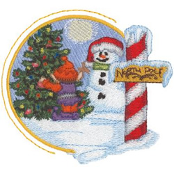 North Pole embroidery design