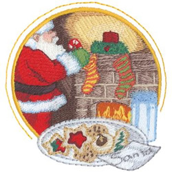 Santa Scene embroidery design