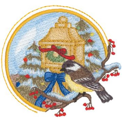 Chickadee embroidery design