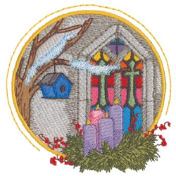 Advent Wreath embroidery design