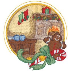 Cozy Fireplace embroidery design