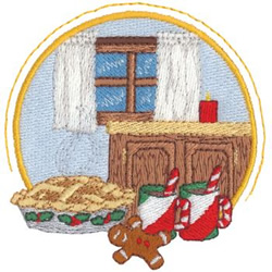 Christmas Kitchen embroidery design