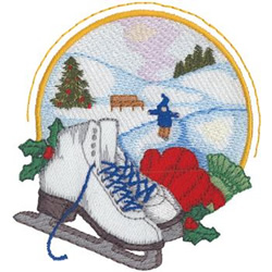 Skating Rink embroidery design
