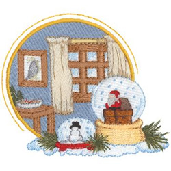 Snow Globes embroidery design