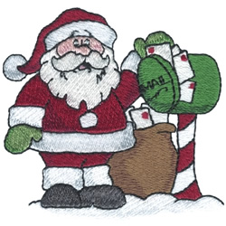 Santas Mail embroidery design