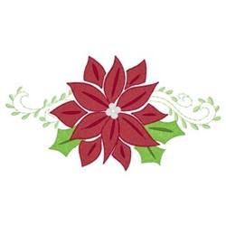Christmas Poinsettias embroidery design