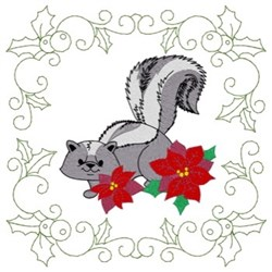 Skunk Quilt Square embroidery design