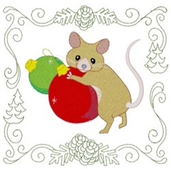 Fieldmouse Quilt Square embroidery design