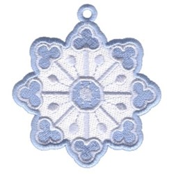Snowflake Circle Ornament embroidery design
